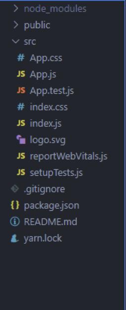 New React Project Folder Setup