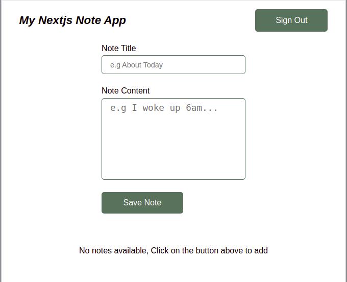 Nextjs Add Notes Component