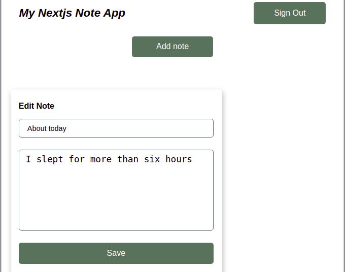 Nextjs Notes Edit Component