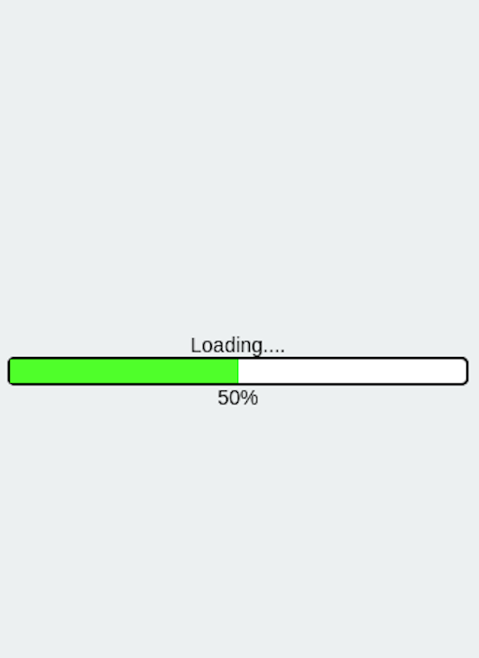 Progress Bar Now Has A Green Loading Bar Within It