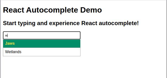 React Autocomplete Demo