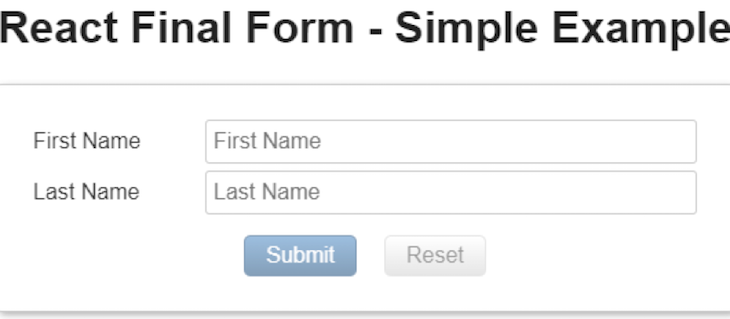 React Final Form Example Form
