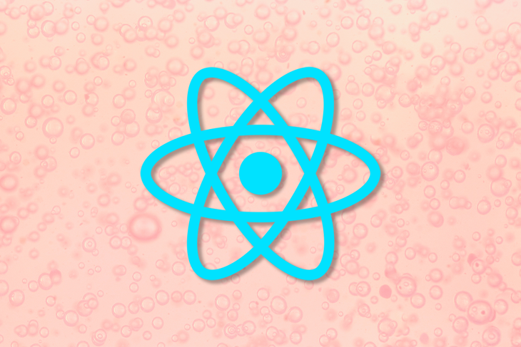 React Logo Over a Pink Background