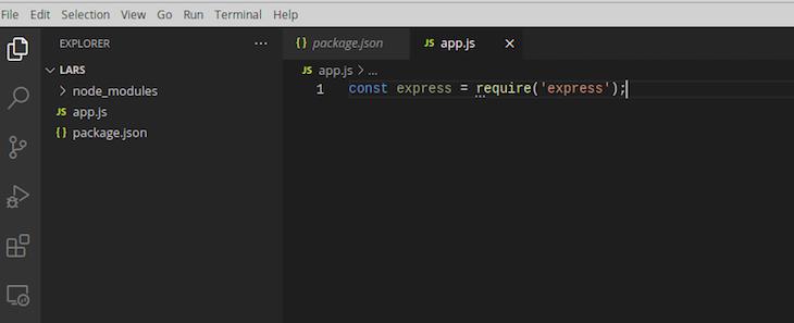 Requiring Express Framework