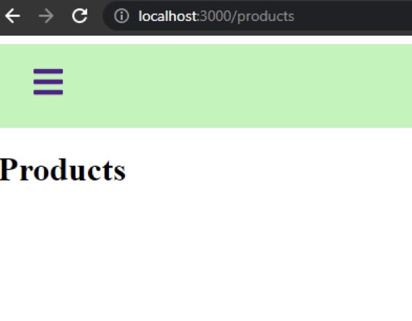 Sidebar Menu Products Page