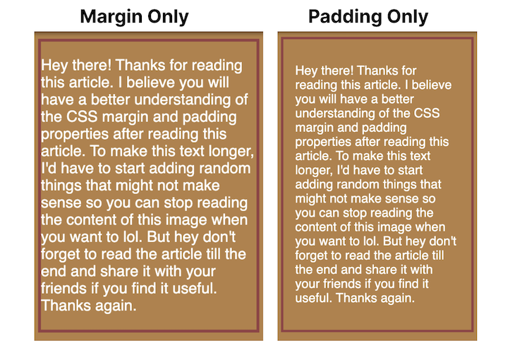 Margin Vs. Padding Rendering With Background Color