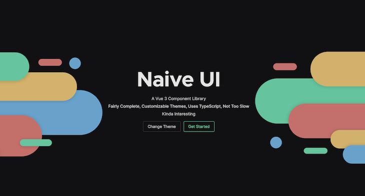 Screenshot of Naive UI homepage