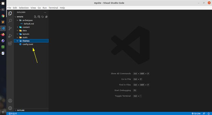 Opening Mysite Folder In Visual Studio Code