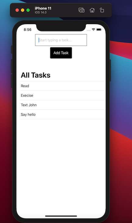 Preview To-Do List App With To-Do Tasks Listed