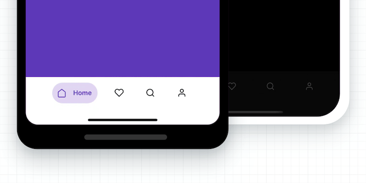 Screenshot of React Native tabbar