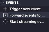 Screenshot of Stripe extension events folder