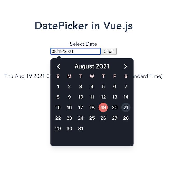 V-Calendar Dark Mode Rendering Calendar In Black