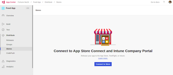AppCenter Connect App Store