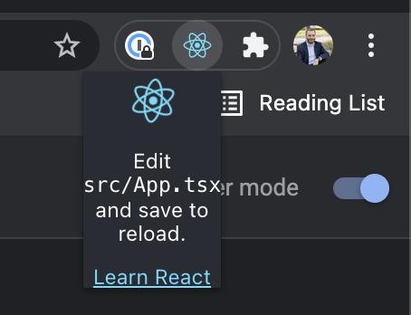 Chrome React SEO Pop Up Logo