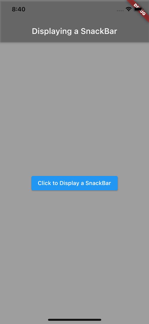 Click to Display SnackBar