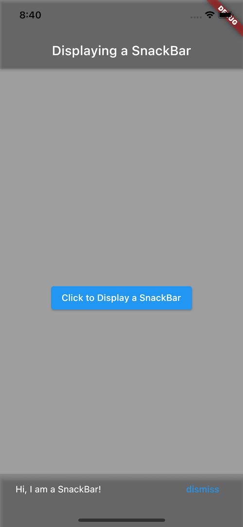 SnackBar Message on Bottom of Screen