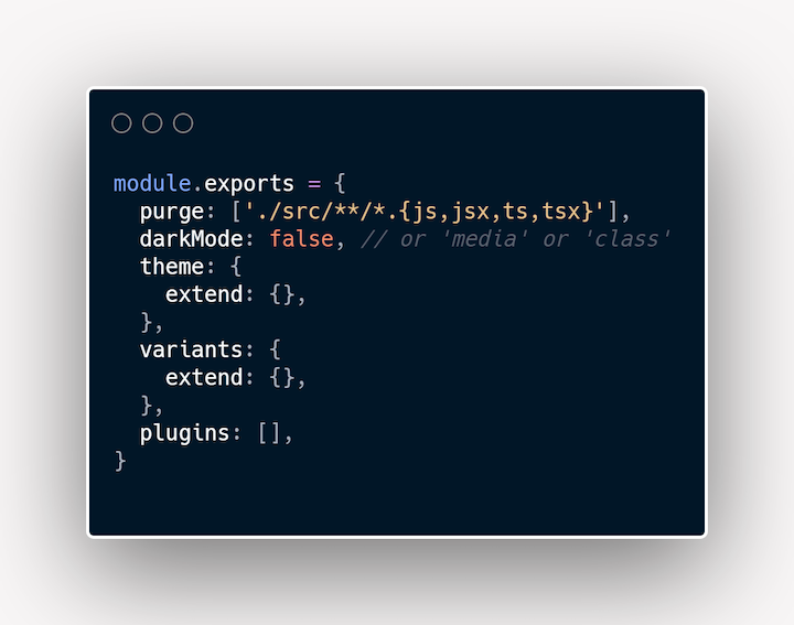 Gatsby and Tailwind CSS Config File Example