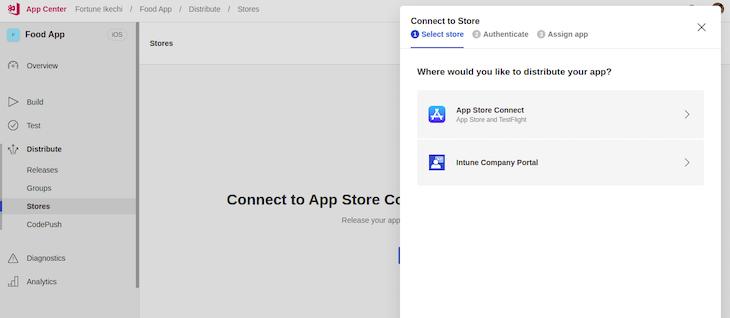 iOS Apple Developer App Center