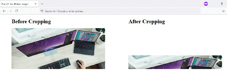 Cropping the image with margin-top and margin-bottom