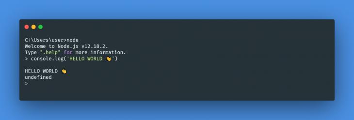 Node.js Startup Environment