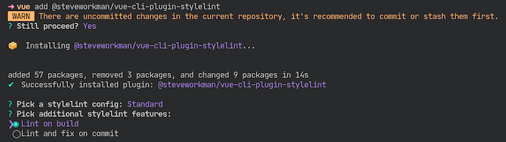 npm Package Running To Integrate Stylelint