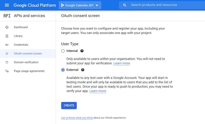 OAuth Consent Screen in Google Cloud Platform,