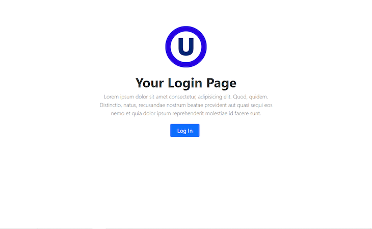 Login Page Created For Our App