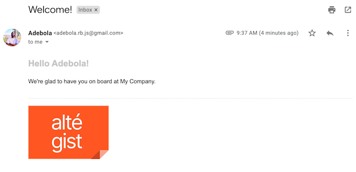 Personalized Styling Nodemailer Email