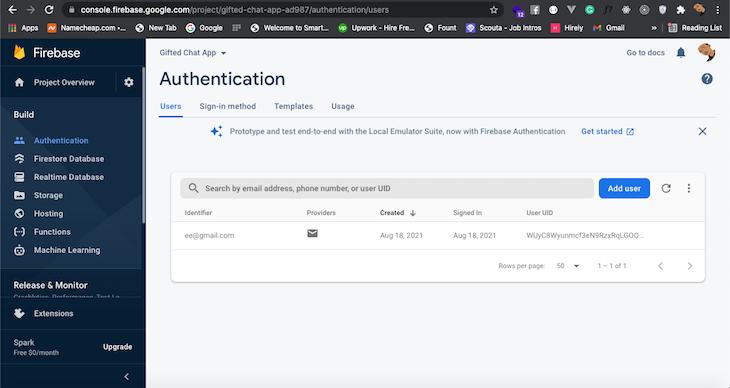 Register New User Firebase