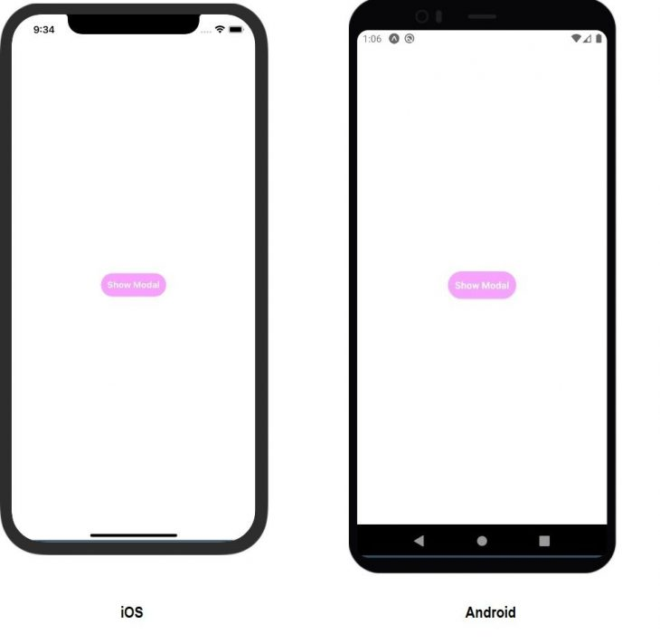 Show Modal Output on Android and iOS
