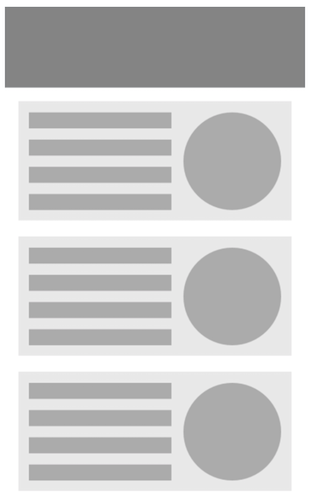 An Example of a Skeleton Screen Displayed During Page Load
