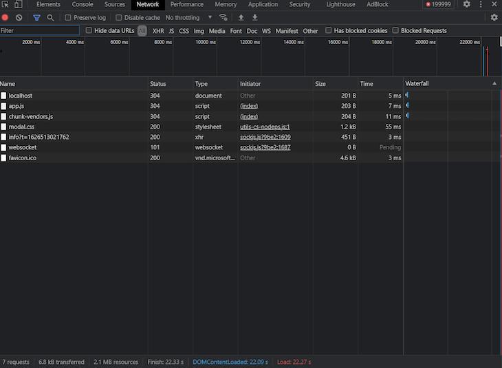 Standard List Component Browser Dom Load Time
