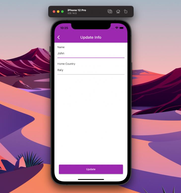 The UpdateScreen