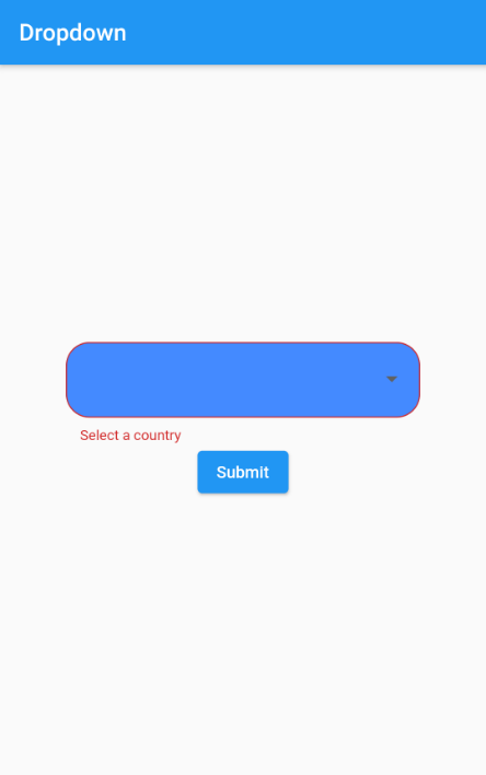 Validation Support in a Flutter Dropdown