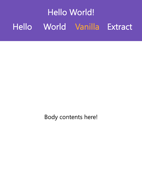 Stylized Theme for a Mobile App Created Using vanilla-extra