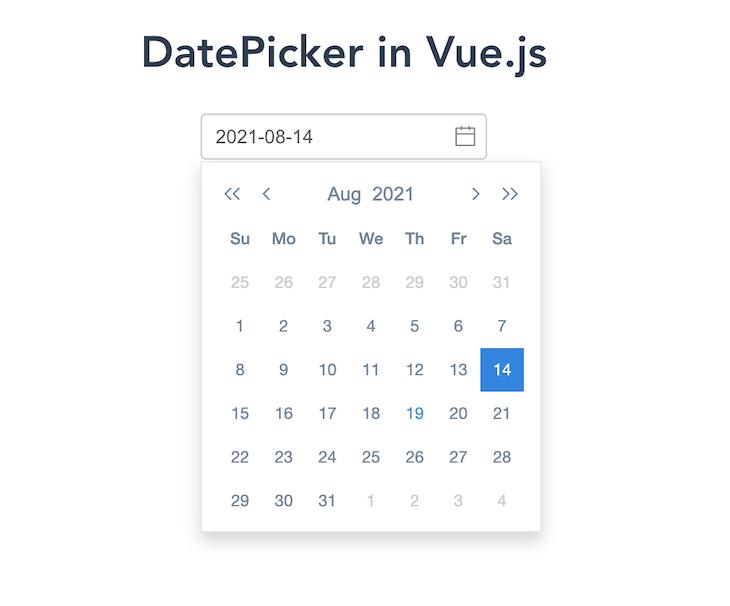 vue2-datepicker Rendering A Calendar View