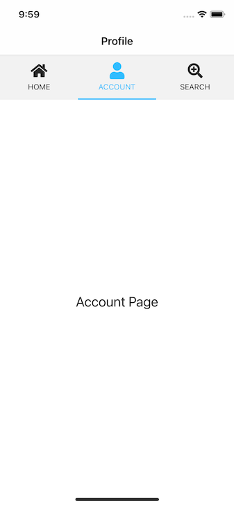 Account Page Highlighting The Account Tab