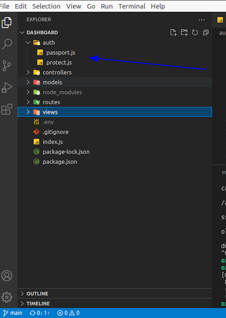 Adding Passport.js And Protect.js Files