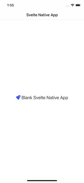 Blank Svelte Native App Page