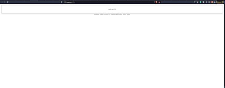 Screenshot of a blank Svelte app
