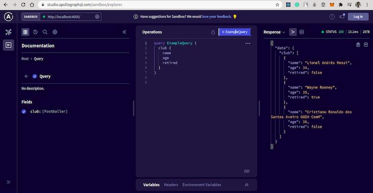 Running A Query In The Sandbox UI