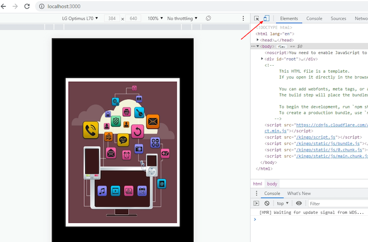 Toggling The Device Emulator In Chrome DevTools