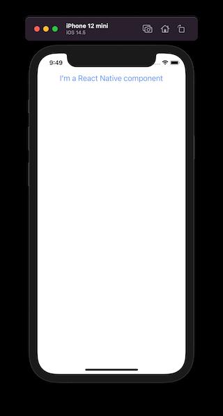 Basic React Native App Setup