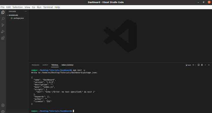 Creating A Package JSON File In VSCode