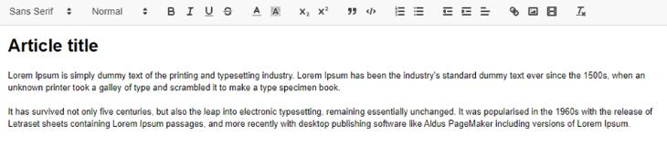Example Editor