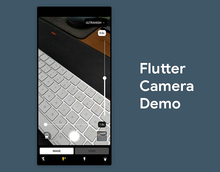 The final Flutter camera demo