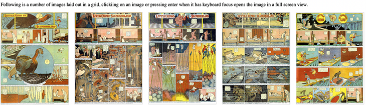 The first line of Little Nemo images