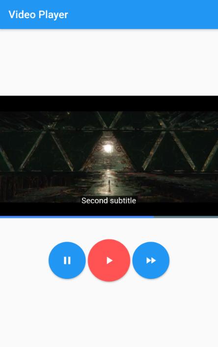 Flutter Video Subtitles Stacked