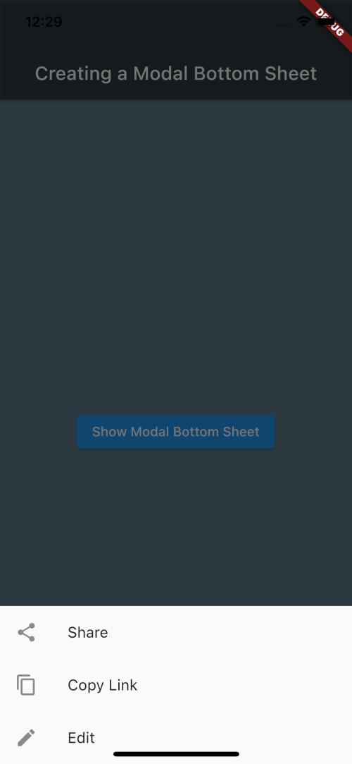 Hidden Menu Options