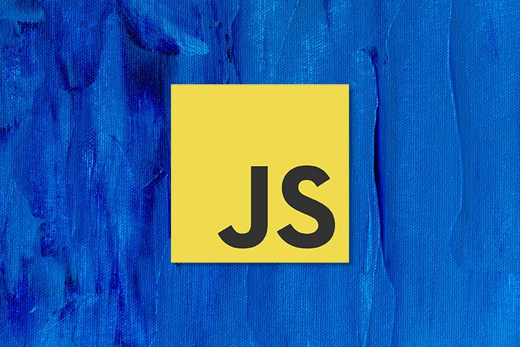 JS Logo Over Blue Background